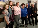 The Conservancy's Marketing Director, Madeline Grimes, and CEO Howard Axel (2nd & 3rd from left) joined by Jane Swanson, Cornell Tech, and RIVAA artists Esther Piaskowski, Ioan Popoiu & Valeriu Boborelu.
